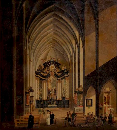 Morganstern(German, 1738-1819)Gothic cathedral