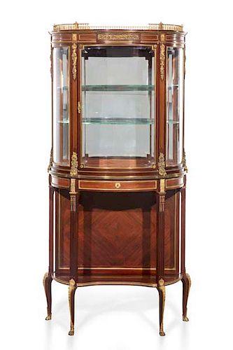 A Louis XVI style vitrine cabinet, Paul Sormani
