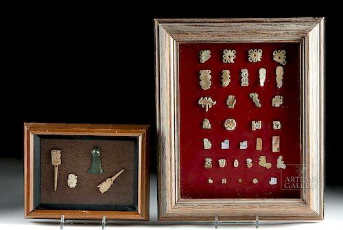 Lot of 37 Framed Chimu Copper be140e00374