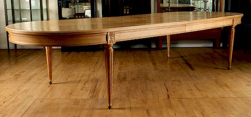 French Louis Xvi Style Beech Dining Table