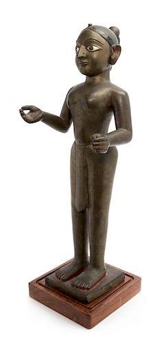 An Indian Bronze Figure of Jina Height 23 inches.