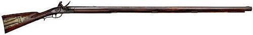Early Flintlock Pennsylvania-Made Rifle