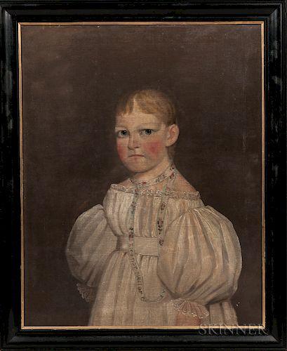 American School, Mid-19th Century    Portrait of Eleanor Neller