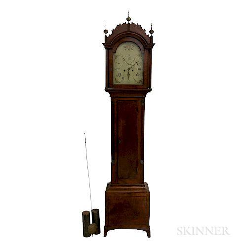 Federal Inlaid Cherry Tall Case Clock