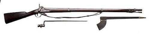 Model1842 Springfield Musket w/Bayonet & Scabbard