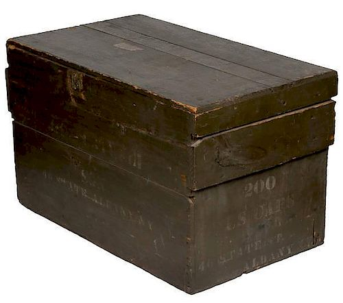 Civil War Forage Cap Shipping Crate with Lid
