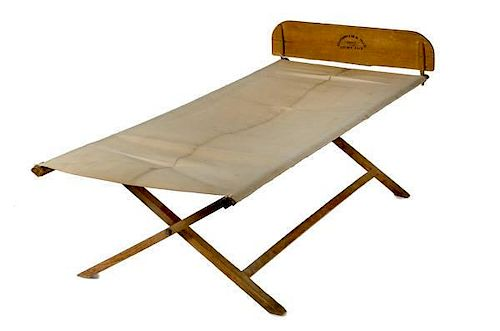 Folding Army Cot Dated 1862
