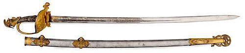 "Presentation Civil War Cavalry Officer's Sword Presented to Felix G. McCrea, ""A Galvanized Yankee"""