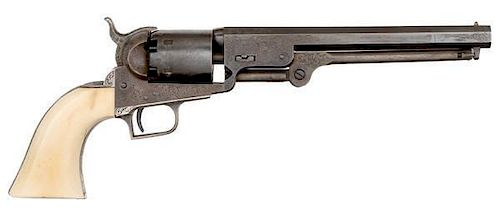 Factory Engraved Colt Second Model 1851 Navy Revolver with British Proofs
