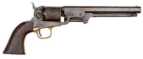 Colt Model 1851 Navy Percussion Revolver, Cut for Stock