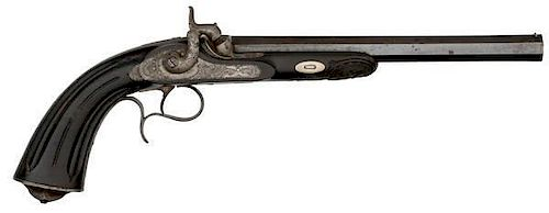 French Percussion Target Pistol by A. Devisme of Paris