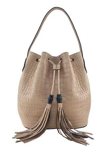 2a18b446879 Gucci Lady Tassel Crocodile Bucket Bag NEW by Consigned Designs ...