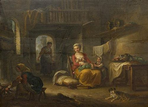 Jean-Baptiste Charpentier the Elder, (French, 1728-1806), The Occupied Mother