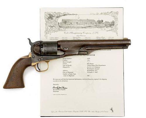 Colt Model 1861 Martially Marked Navy Revolver