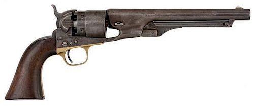 Colt U.S. Martial Army Model 1860 Four-Screw Frame Percussion Revolver