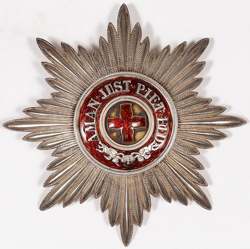 IMPERIAL RUSSIAN ORDER OF ST. ANNE BREAST STAR