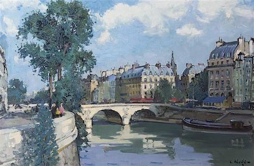 Constantine Kluge, (French, 1912-2003), Le Pont Saint-Michel
