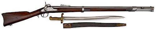 Whitney 1861 Navy Percussion Rifle with Brass-Handled Saber Bayonet