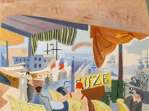 Andre Lhote, (French, 1885-1962), Cafe au bord de la mer, c. 1931