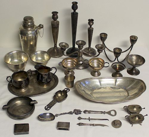 STERLING. Assorted Hollow Ware and Flatware.