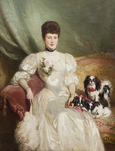 Talbot Hughes, (British, 1869-1942), Portrait of Princess Alexandra (1844-1925) Queen Consort of the United Kingdom and Empress