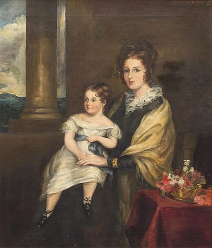 * Attributed to Sir Francis Grant, (British, 19th century), Portrait of a Mother and Child