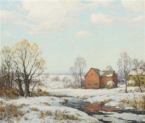 Walter C. Hartson, (American, 1866-1946), The Red Barn