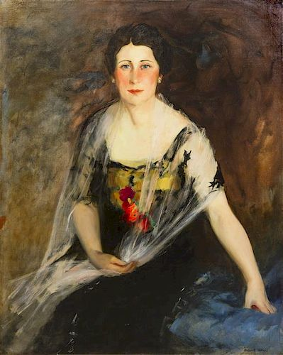 Robert Henri, (American, 1865-1929), Portrait of Mrs. Charles Weidemann, 1916