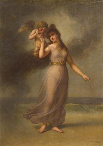 George Henry Hall, (American, 1825-1913), Allegorical Figure, 1898