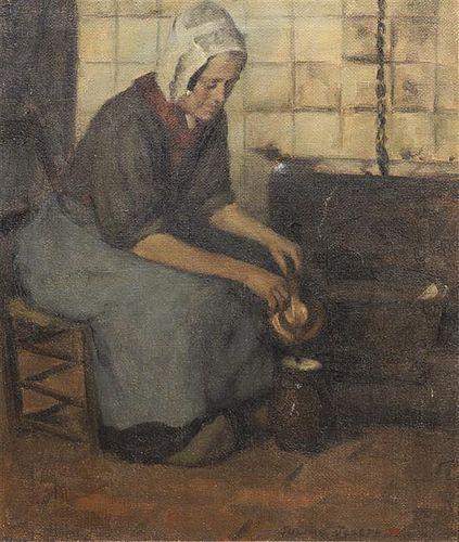 Julian Joseph, (American, 1882-1964), Seated Peasant Woman