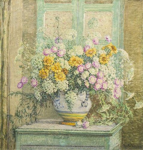 Anna Lee Stacey, (American, 1865-1943), Vase of Flowers, 1939