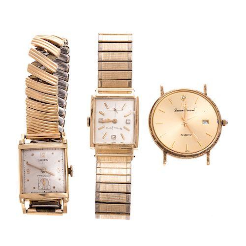 A Collection of Gent's 14K Gold Watches
