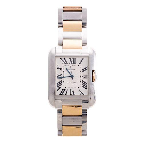 A Gentlemen's Cartier Tank Anglaise Watch