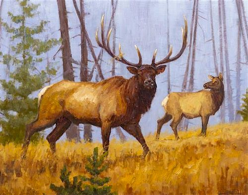 John DeMott, (American, b. 1954), Elk, 1999