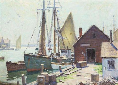 Junius Allen, (American, 1898-1962), The Bait Jetty, 1948