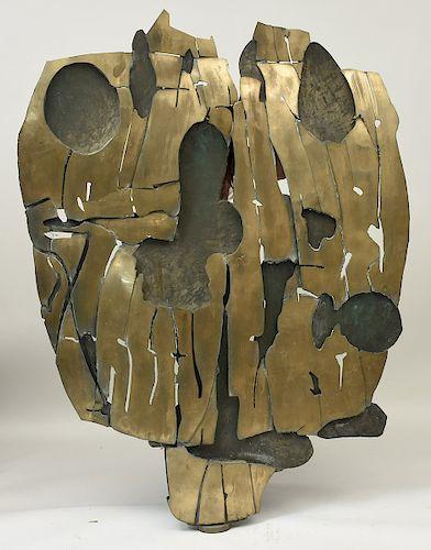 """Pietro Consagra Important welded bronze Brutalist sculpture signed """"Consagra 66"""""""