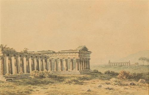 John Warwick Smith, (British, 1749-1831), Temple Ruins