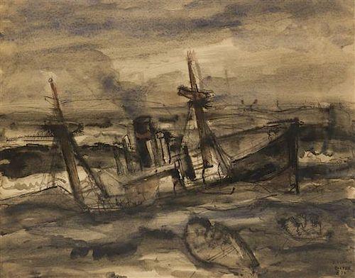 Paul Delvaux, (Belgian, 1897-1994), Sinking Ship, 1934