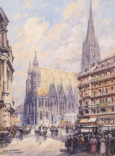 Friedrich Frank, (Austrian, 1871-1945), Wein-Stephensplatz