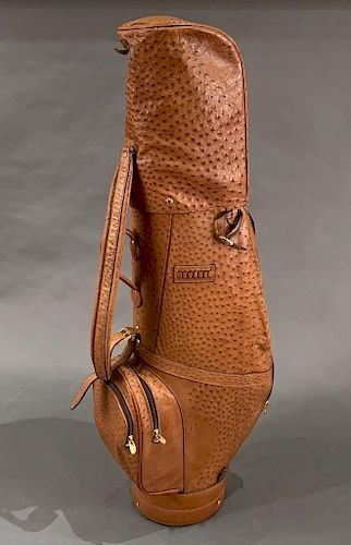 The Swan Collection Ostrich Leather Men's Golf Bag