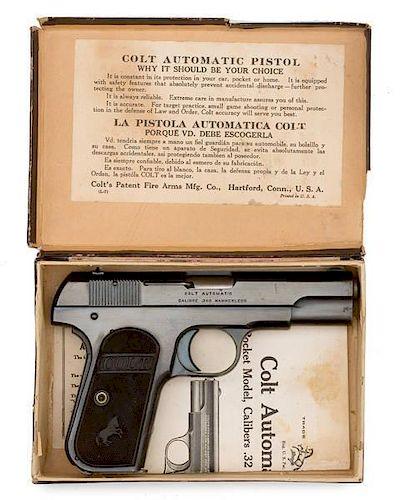 **Colt Model 1908 Pistol in the Original Box