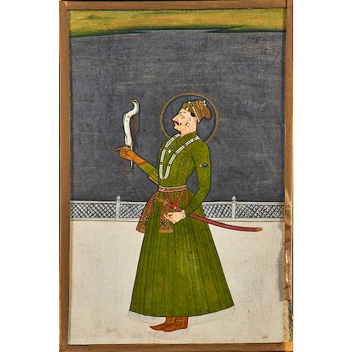 INDIAN ILLUSTRATION OF A RAJASTHANI PRINCE
