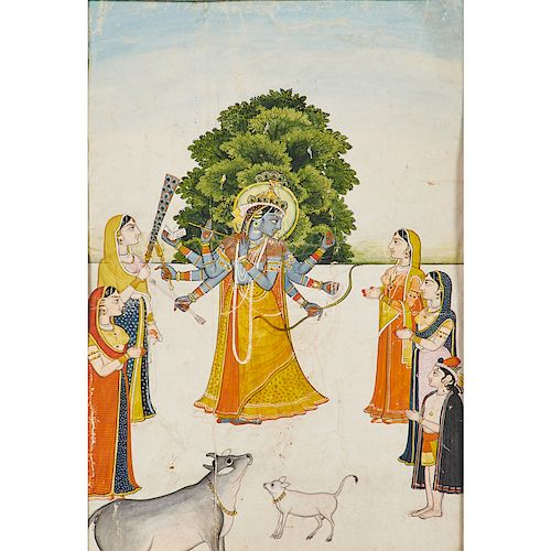 INDIAN ILLUSTRATION OF A MAIDEN