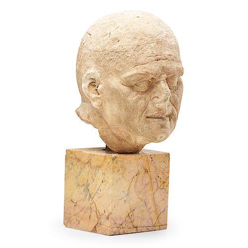 ROMAN CARVED STONE HEAD