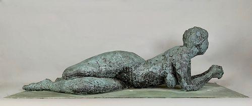 Anthony Caro Bronze Reclining Woman
