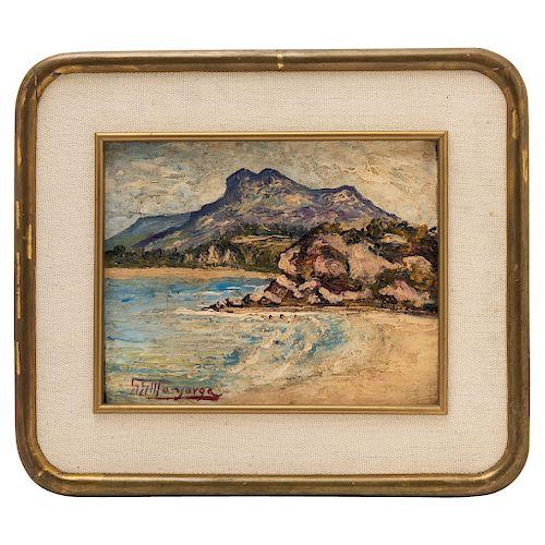 GUILLERMO GÓMEZ MAYORGA (MEXICO, 1887 - 1962). VIEW OF A BEACH.