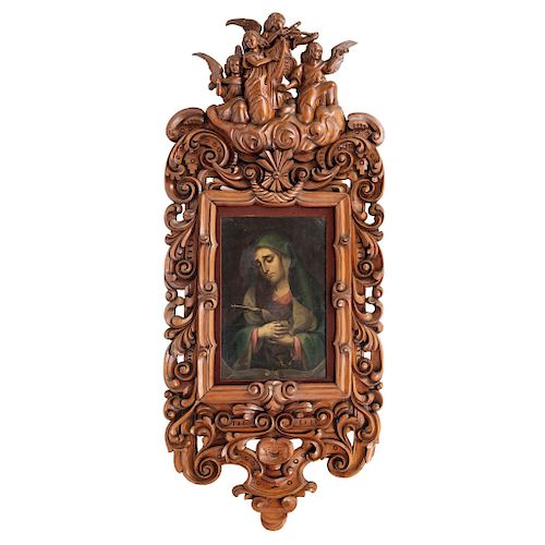 OUR LADY OF SORROWS. MEXICO, 19TH CENTURY.
