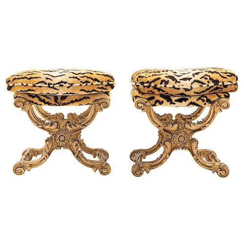 A PAIR OF STOOLS. FRANCE, LATE 19TH CENTURY.