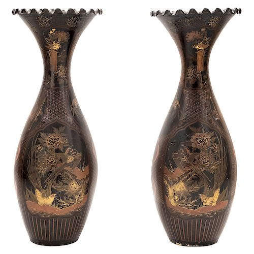 A PAIR OF VASES. JAPAN, FIRST HALF OF THE 20TH CENTURY.