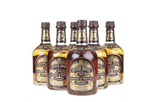 Chivas Regal. 12 años. Blended. Scotch Whisky. Piezas: 6. De los 60's.
